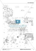 Leseförderung Fußballspielen: Arbeitshinweise, Unterrichtsmodell, Bilder, Arbeitsblätter, Lesespiel und Kontrollblatt Preview 8