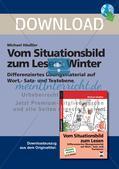 Leseförderung Winter: Arbeitshinweise, Unterrichtsmodell, Bilder, Arbeitsblätter, Lesespiel und Kontrollblatt Preview 2