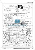 Leseförderung Piratenschiff: Unterrichtsmodell, Bilder, Arbeitsblätter, Lesespiel und Kontrollblatt Preview 7