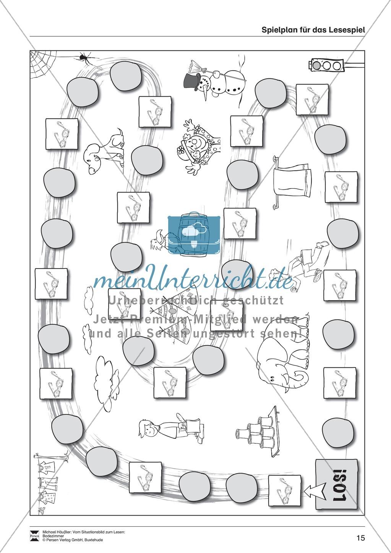Leseförderung Badezimmer: Unterrichtsmodell, Bilder, Arbeitsblätter, Lesespiel und Kontrollblatt Preview 11
