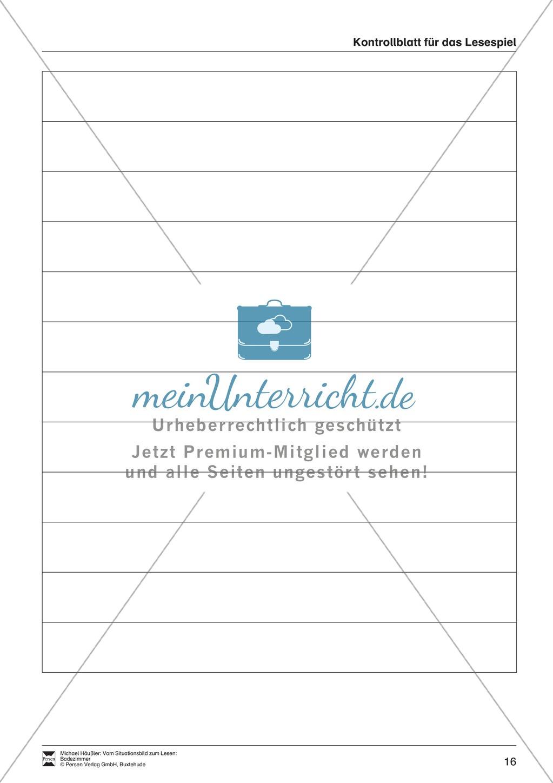 Leseförderung Badezimmer: Unterrichtsmodell, Bilder, Arbeitsblätter, Lesespiel und Kontrollblatt Preview 12