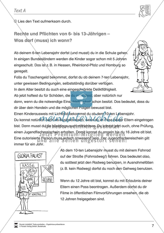 textarbeit rechte und pflichten von 6 bis 13j228hrigen