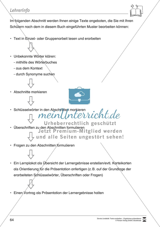 Textbeispiele für die Textarbeit mit Fragen Preview 0