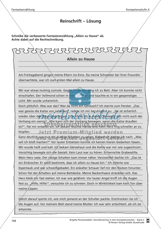 Schreibtraining Fantasieerzählung: Kompetenzstufe A: Arbeitsblätter mit Lösungen Preview 12