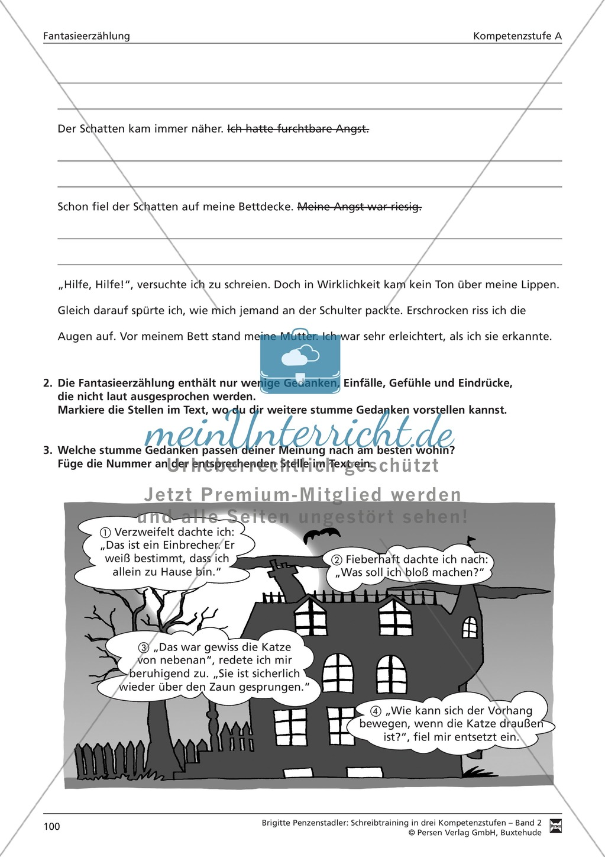 Schreibtraining Fantasieerzählung: Kompetenzstufe A: Arbeitsblätter mit Lösungen Preview 8