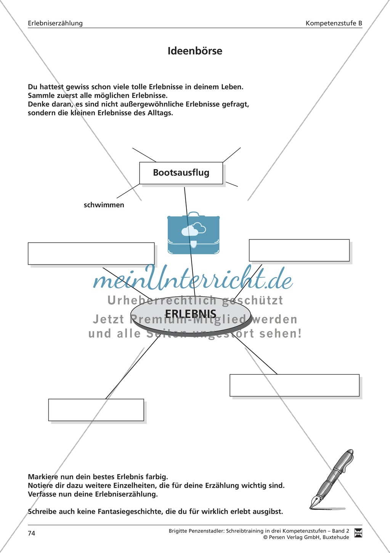 Schreibtraining Erlebniserzählung: Kompetenzstufe B: Arbeitsblätter mit Lösungen Preview 14