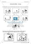 Schreibtraining Bildergeschichte: Kompetenzstufe C:  Arbeitsblätter mit Lösungen Preview 2
