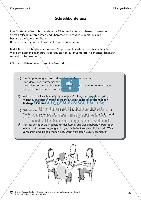 Arbeitsblätter Deutsch Tierbeschreibung : Schreibtraining bildergeschichte kompetenzstufe b
