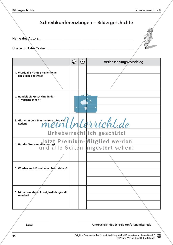 Schreibtraining Bildergeschichte: Kompetenzstufe B:  Arbeitsblätter mit Lösungen Preview 10