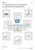 Anlaute Vokale: Rahmen ausmalen: Übungsblätter Preview 2