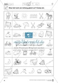 Anlaute Konsonanten: Einkreisen: Übungsblätter Preview 5