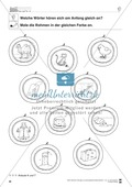 Anlaute Konsonanten: vier Anlaute: Rahmen ausmalen: Übungsblätter Preview 1