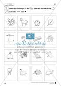 Vokallänge im Inlaut: Übungsblätter Preview 1