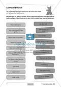 Deutsch, Literatur, Umgang mit fiktionalen Texten, Fiktionale Texte, Analyse fiktionaler Texte, Gattungen, Epik, Gattungsmerkmale, Fabeln