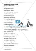 Deutsch, Schreiben, Sprache, Lesen, Literatur, Schreibprozesse initiieren, Sprachbewusstsein, Schriftspracherwerb, Fiktionale Texte, Umgang mit fiktionalen Texten, Grammatik, Lesekompetenz, Epik, Analyse fiktionaler Texte, Gattungen, Wortarten, Fabeln, Adjektive, leseverstehen