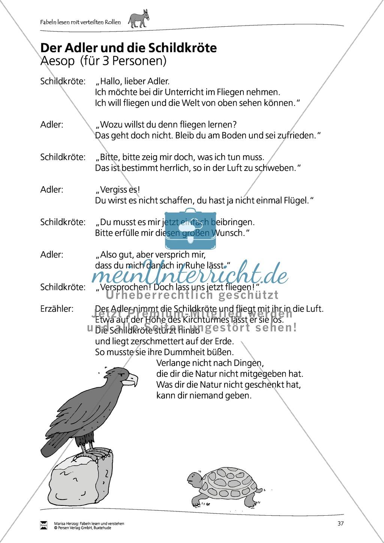"""Fabel """"Der Adler und die Schildkröte"""": Text Preview 1"""