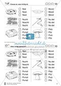 Leseförderung Wortebene: Schwierigkeitsgrad 3/4: Lesekartei mit Arbeisblättern und Lösungen Preview 11