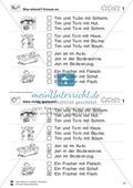 Leseübungen Satzebene: Übungen Satz-Bild-Zuordnung mit Lösungen Fortgeschrittene schwer gesamt Preview 1