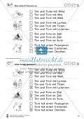 Leseübungen Satzebene: Übungen Satz-Bild-Zuordnung mit Lösungen Fortgeschrittene schwer gesamt Preview 3