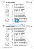 Leseübungen Satzebene: Übungen Satz-Bild-Zuordnung mit Lösungen Fortgeschrittene schwer gesamt Preview 6