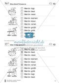 Leseübungen Satzebene: Übungen Satz-Bild-Zuordnung mit Lösungen Anfänger gesamt Preview 10