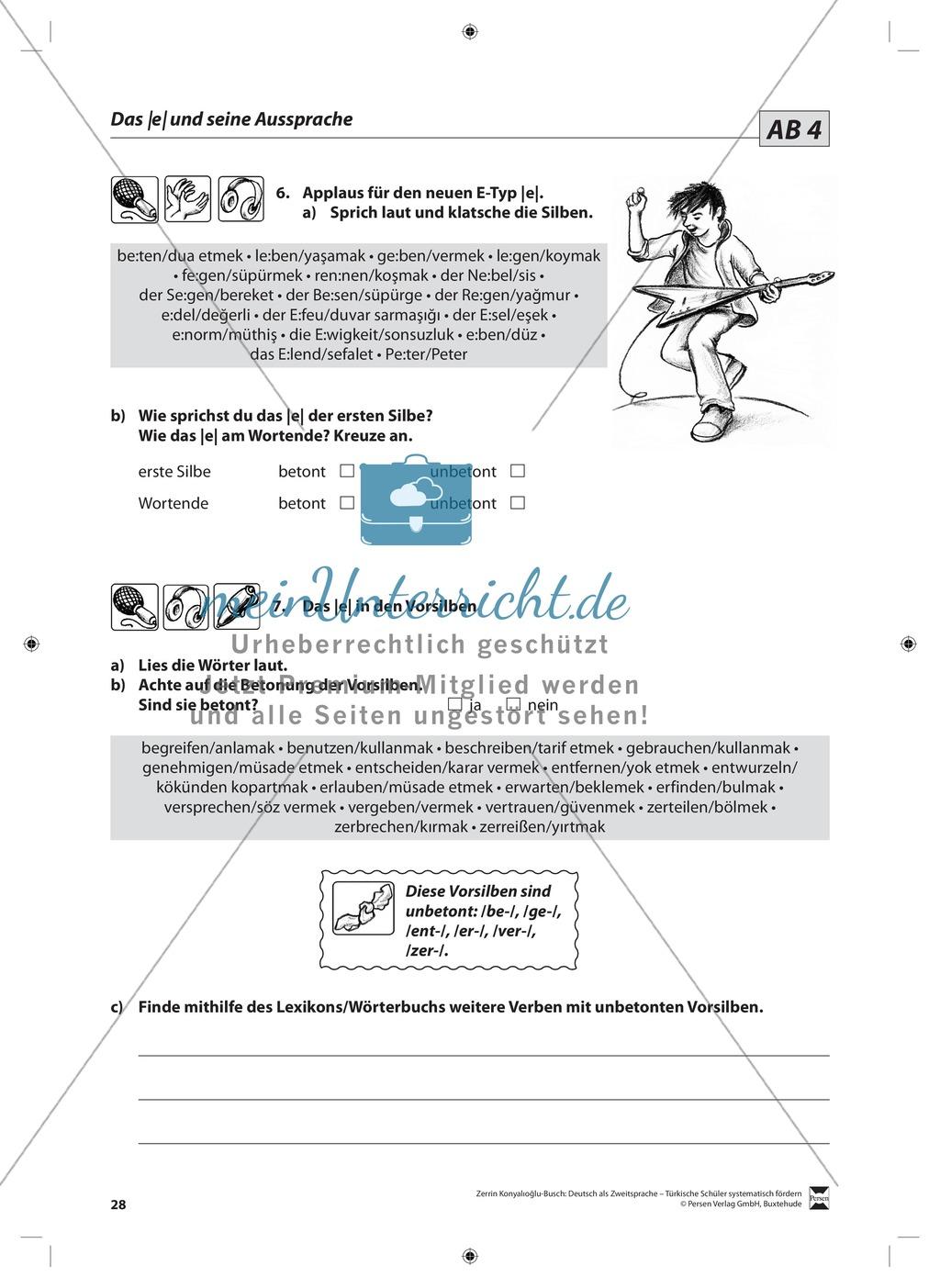 """Laut-Buchstaben-Zuordnung  """"e"""" und """"ä"""": Lehrerinformationen, Arbeitsblätter und Lösungen Preview 5"""