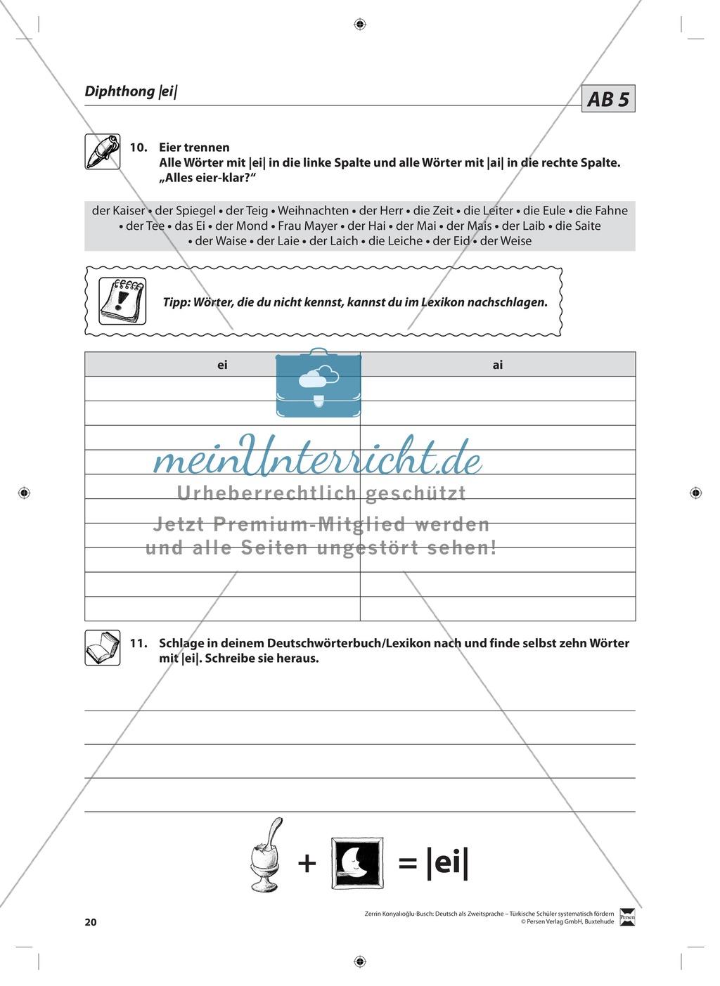 Der Diphthong: Lehrerinformationen, Arbeitsblätter und Lösungen Preview 6
