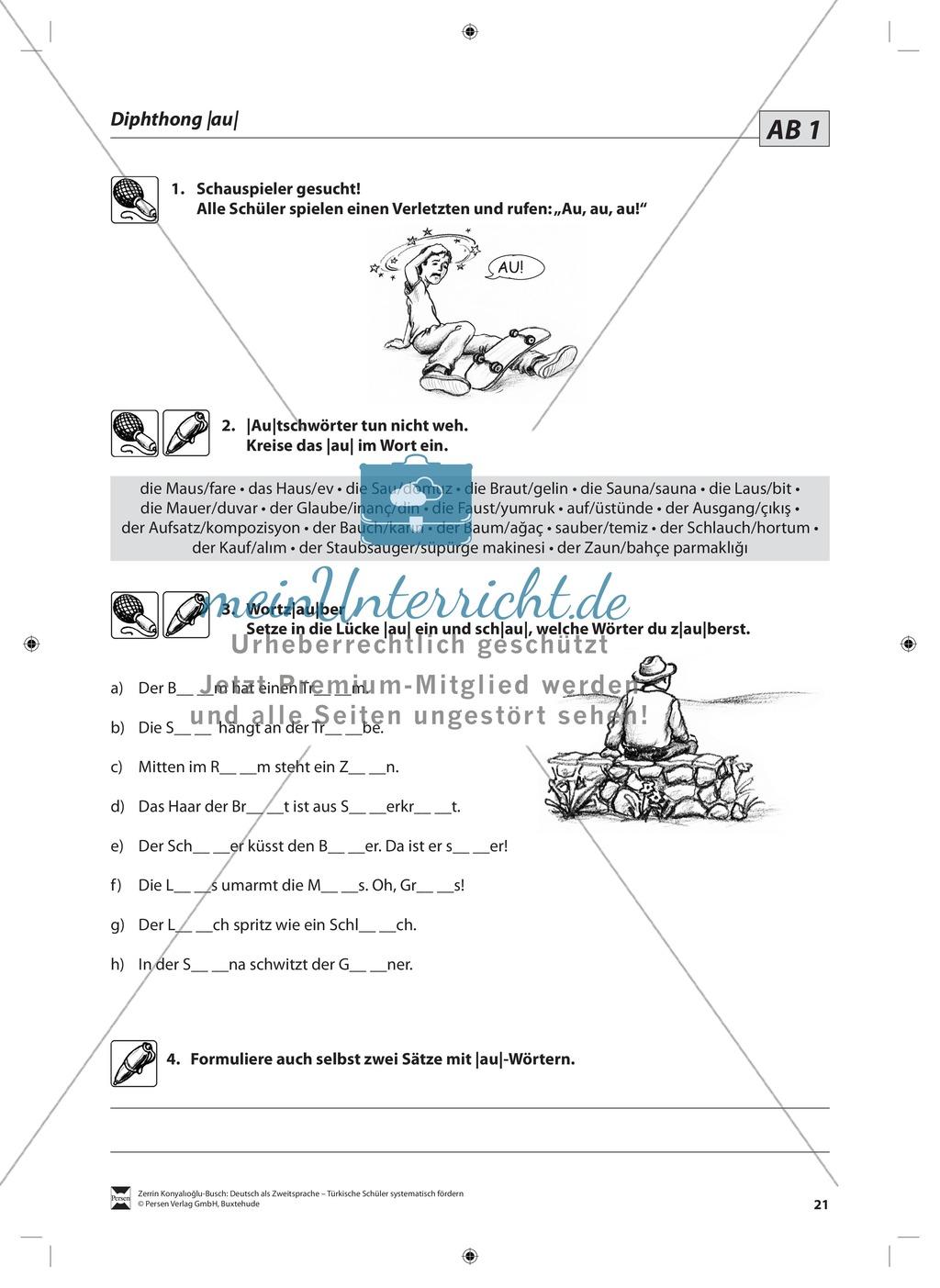 Der Diphthong: Lehrerinformationen, Arbeitsblätter und Lösungen Preview 7