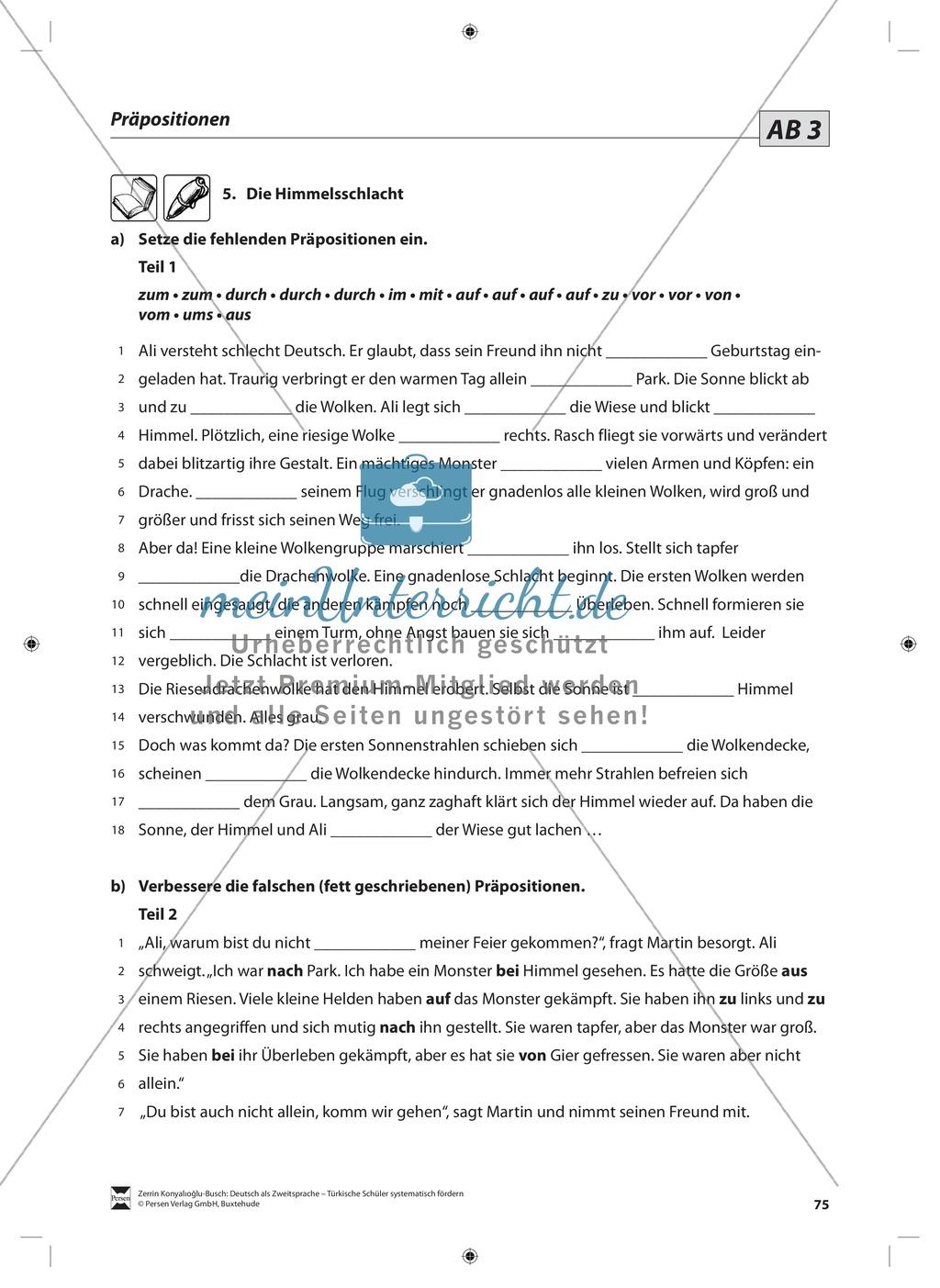 Präpositionen: Lehrerinformationen, Arbeitsblätter und Lösungen Preview 3