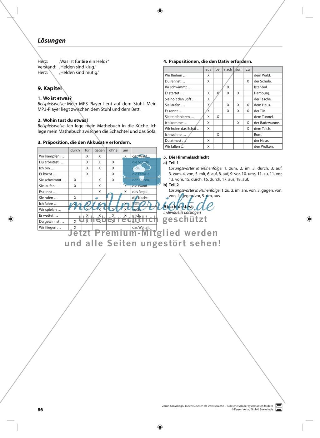 Präpositionen: Lehrerinformationen, Arbeitsblätter und Lösungen Preview 4