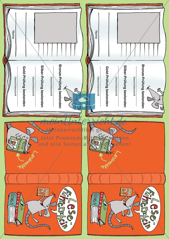 Leseführerschein Gold: Trainings- und Prüfungsblätter, Auswertungsbögen und Lösungen Preview 30