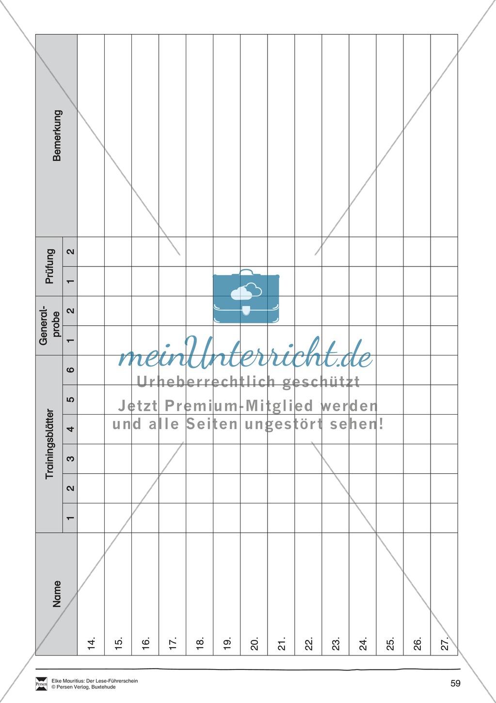 Leseführerschein Bronze: Trainings- und Prüfungsblätter, Auswertungsbögen und Lösungen Preview 15