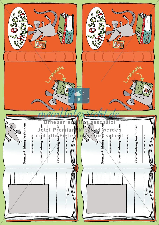 Leseführerschein Bronze: Trainings- und Prüfungsblätter, Auswertungsbögen und Lösungen Preview 20