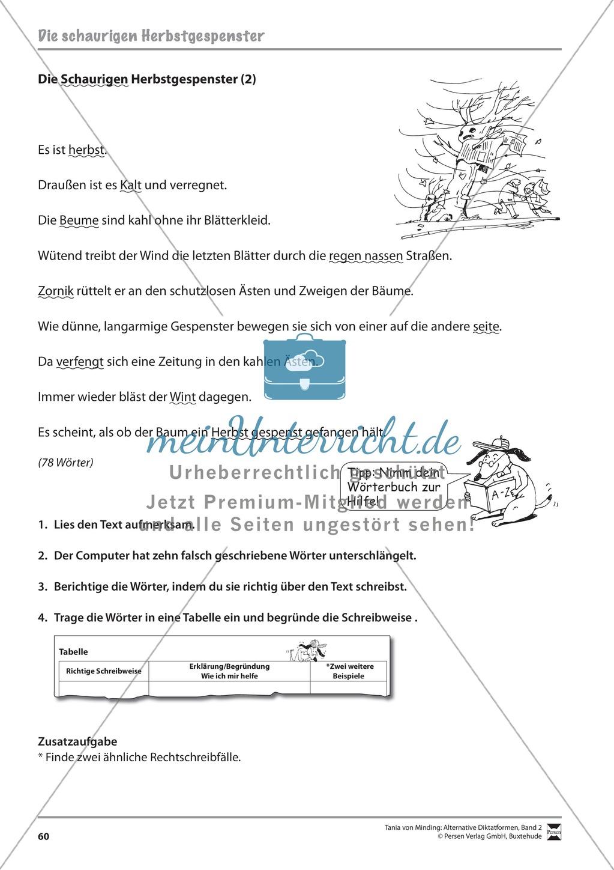 Kommentierte Diktate: Übungsblätter Preview 1
