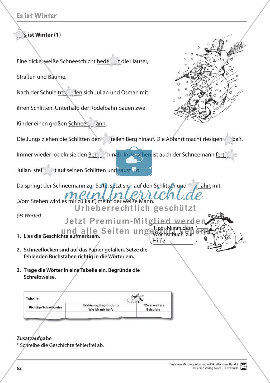 Kommentierte Diktate: Übungsblätter Preview 3