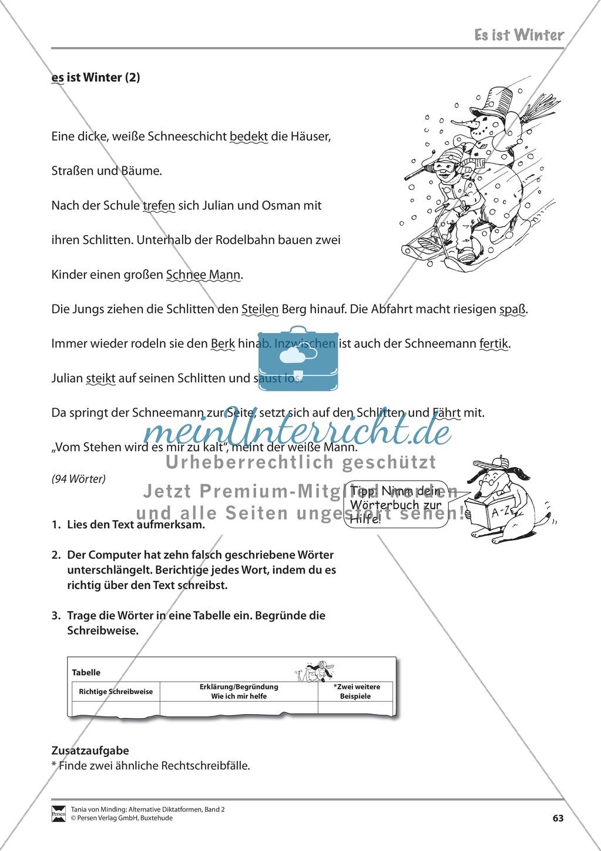 Kommentierte Diktate: Übungsblätter Preview 4