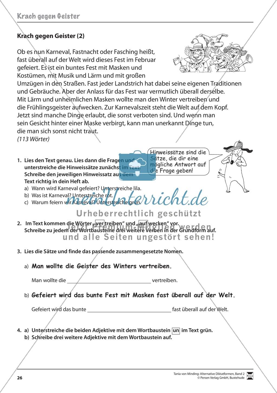 Die Rechtschreibarbeit: Arbeitstexte und Lösungen Preview 18