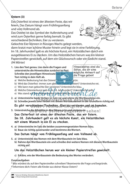 Die Rechtschreibarbeit: Arbeitstexte und Lösungen Preview 25