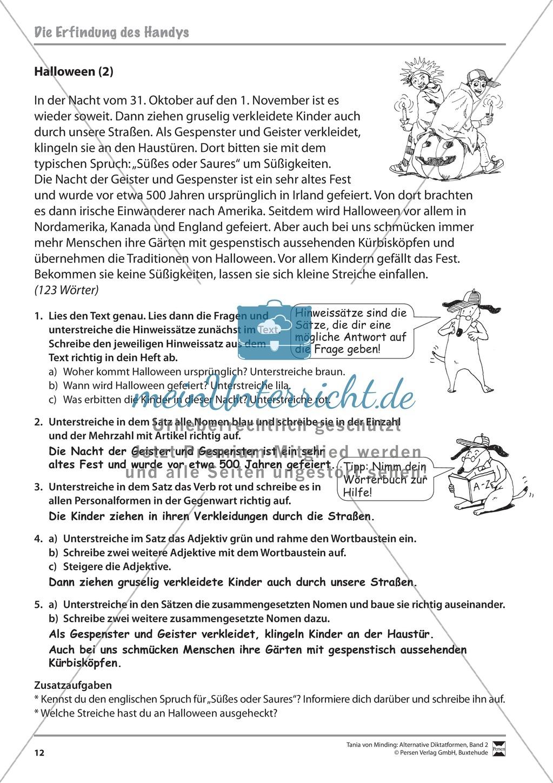 Die Rechtschreibarbeit: Arbeitstexte und Lösungen Preview 4