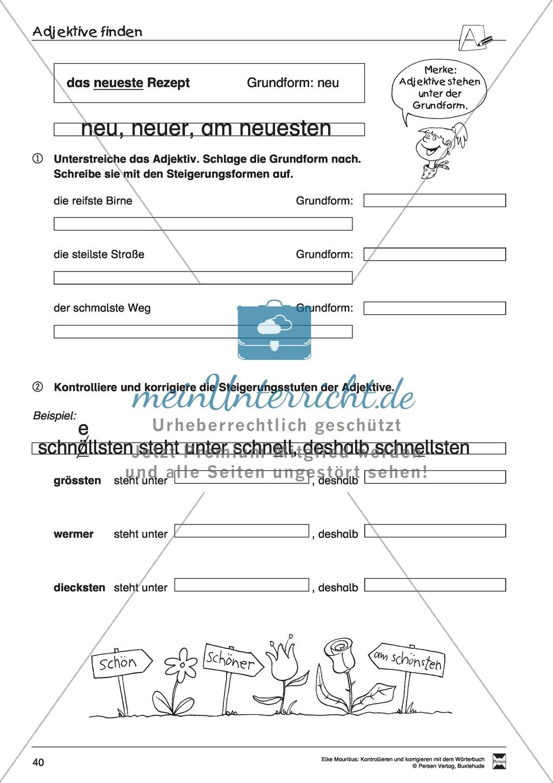 Spezifische Formen finden und Korrigieren: Übungsblätter, Selbsteinschätzungsbogen, Test und Lösungen Preview 6