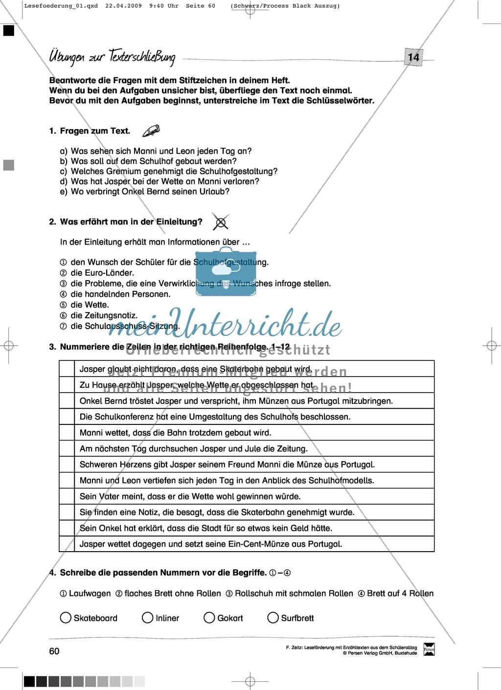 "Kurzgeschichte ""Wetten?"": Text + Übungen + Lösungen Preview 3"