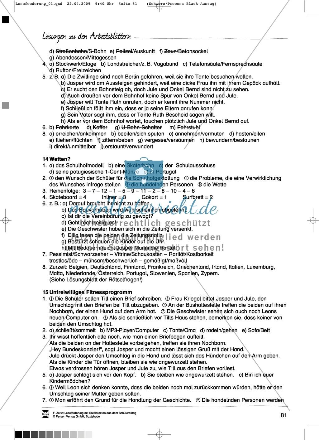 "Kurzgeschichte ""Wetten?"": Text + Übungen + Lösungen Preview 5"