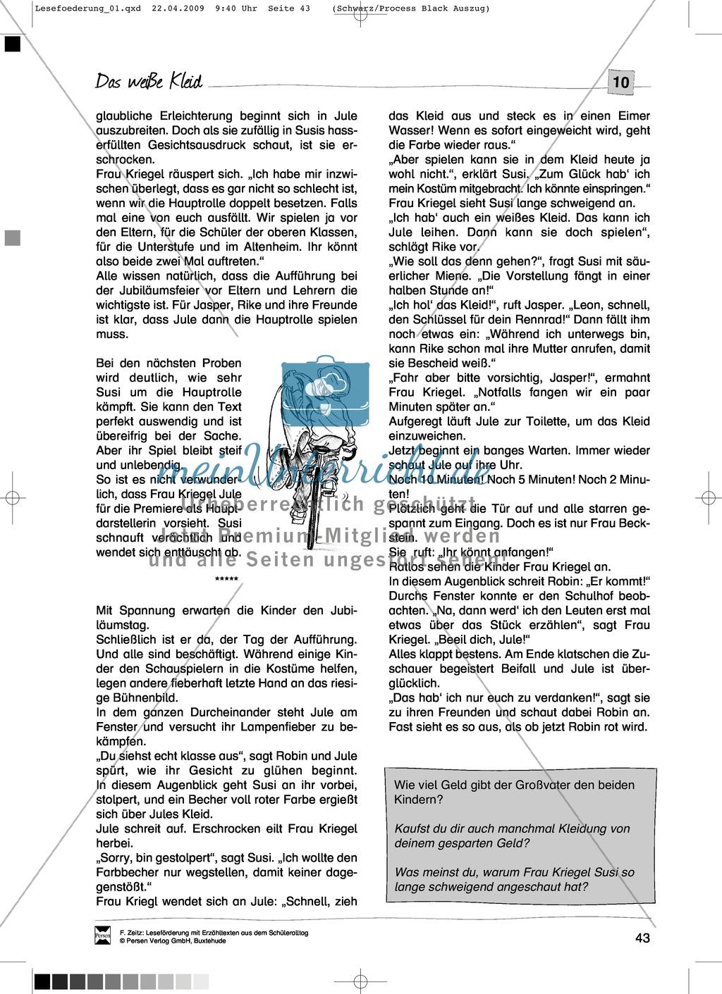 """Kurzgeschichte """"Das weiße Kleid"""": Text + Übungen + Lösungen Preview 2"""