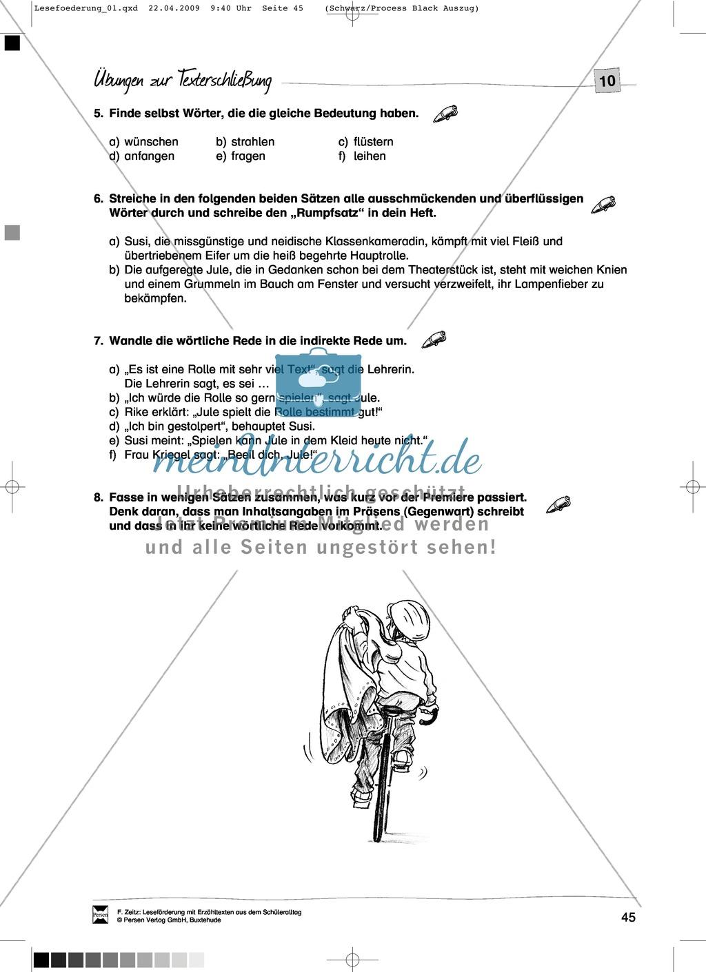 """Kurzgeschichte """"Das weiße Kleid"""": Text + Übungen + Lösungen Preview 4"""