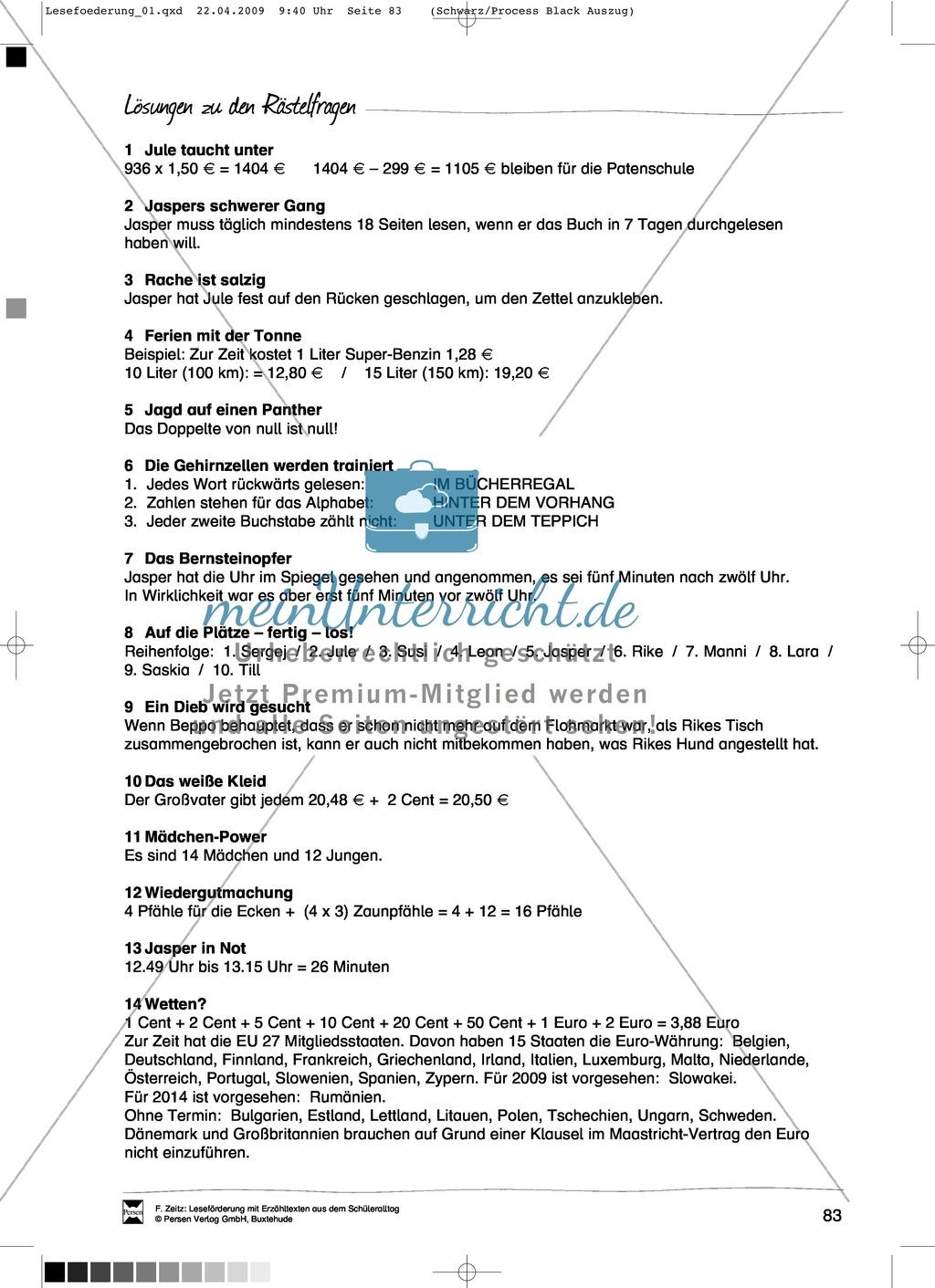 """Kurzgeschichte """"Das Bernsteinopfer"""": Text + Übungen + Lösungen Preview 6"""