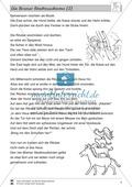 Die Bremer Stadtmusikanten: Text (mittel) und Aufgaben Preview 2