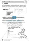 Die Bremer Stadtmusikanten: Text (mittel) und Aufgaben Preview 7