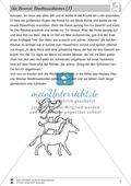 Die Bremer Stadtmusikanten: Text (leicht) und Aufgaben Preview 2