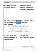 Frau Holle: Text (schwer) und Aufgaben Preview 5
