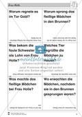 Frau Holle: Text (schwer) und Aufgaben Preview 6